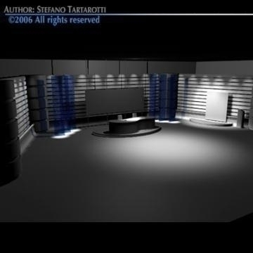 tv news studio 3d model 3ds dxf c4d obj 77421