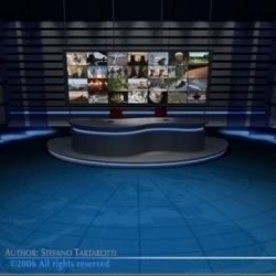 TV news studio ( 59.73KB jpg by tartino )