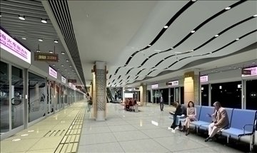 underground station 003 3d model 3ds max 90313