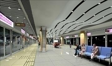 underground station 003 3d model 3ds max 90313