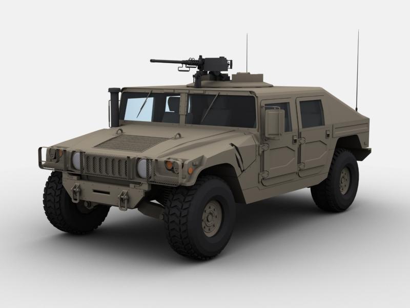 military hummer 3d model 3ds max fbx 146403
