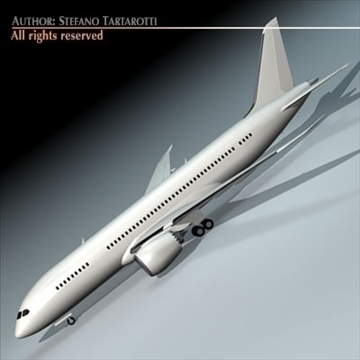 b787 dreamliner 3d model 3ds dxf c4d obj 95879