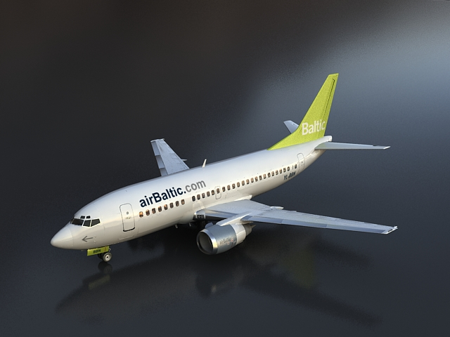 boeing 737-500 3d model 3ds max 113594
