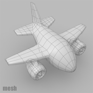 cartoon jet plane 3d model 3ds max 81185