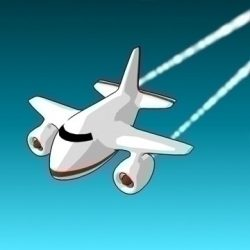 Cartoon jet plane ( 45.5KB jpg by dragoo )