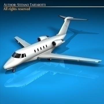 citation iii 3d model 3ds dxf c4d obj 94533