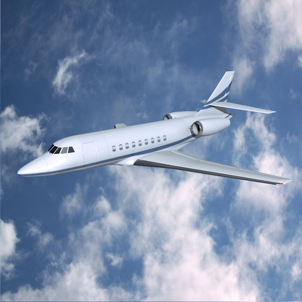 dassault falcon 2000dx jet privat 3d model 3ds fbx blend lwo obj 161602