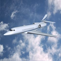 Dassault Falcon 2000dx private jet ( 224.86KB jpg by futurex3d )