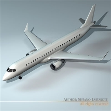 embraer 195 3d model 3ds dxf c4d obj 96364
