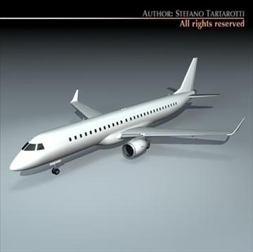 embraer 195 3d model 3ds dxf c4d obj 96365