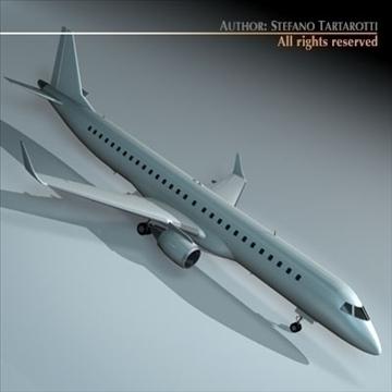 embraer 195 3d model 3ds dxf c4d obj 96366