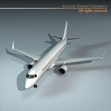 embraer 195 3d model 3ds dxf c4d obj 96367
