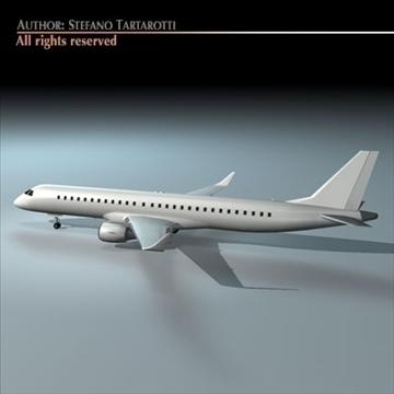 embraer 195 3d model 3ds dxf c4d obj 96368
