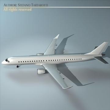 embraer 195 3d model 3ds dxf c4d obj 96369