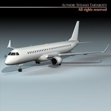 embraer 195 3d model 3ds dxf c4d obj 96370