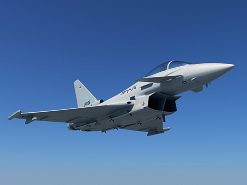 eurofighter typhoon 3d modelis 3ds max c4d lwo ma mb obj 114463