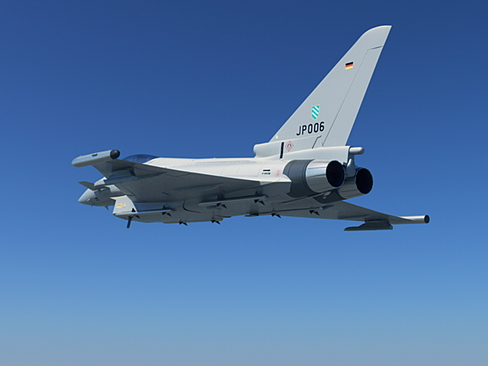 eurofighter typhoon 3d model 3ds max c4d lwo ma mb obj 114464