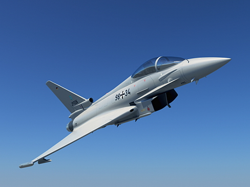eurofighter typhoon 3d modelis 3ds max c4d lwo ma mb obj 114465