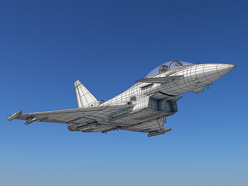 eurofighter typhoon 3d modelis 3ds max c4d lwo ma mb obj 114479