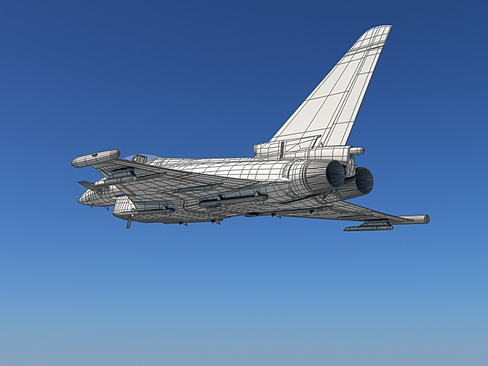 eurofighter typhoon 3d model 3ds max c4d lwo ma mb obj 114480
