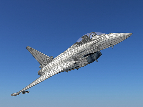 eurofighter typhoon 3d model 3ds max c4d lwo ma mb obj 114481