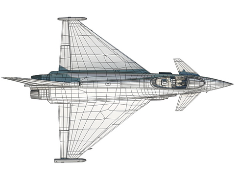 eurofighter typhoon 3d modelis 3ds max c4d lwo ma mb obj 114482