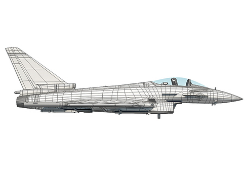 eurofighter typhoon 3d modelis 3ds max c4d lwo ma mb obj 114486