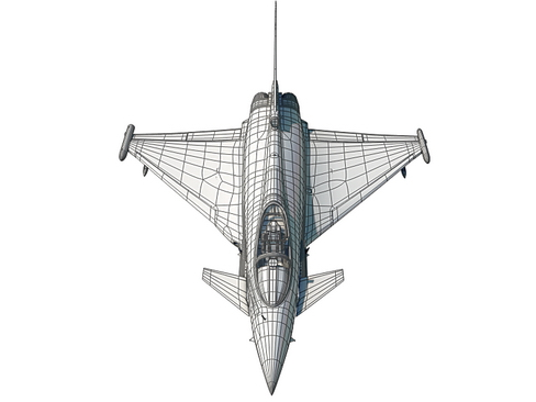 eurofighter typhoon 3d model 3ds max c4d lwo ma mb obj 114487