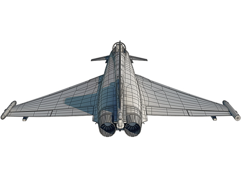 eurofighter typhoon 3d model 3ds max c4d lwo ma mb obj 114488