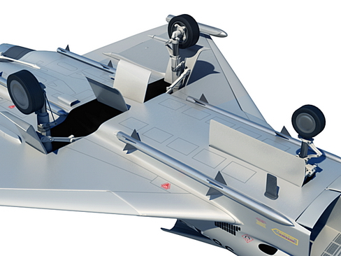 eurofighter typhoon 3d model 3ds max c4d lwo ma mb obj 114495