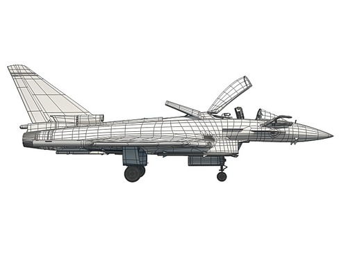 eurofighter typhoon 3d model 3ds max c4d lwo ma mb obj 114499
