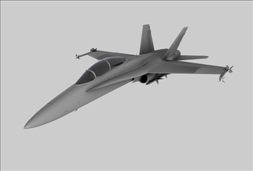 f18 fighter plane 3d model 3ds c4d 109304