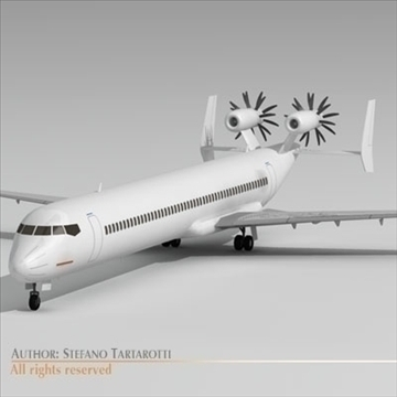 jet with tail open rotor turbines 3d model 3ds dxf c4d obj 102940