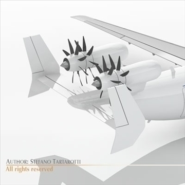 jet with tail open rotor turbines 3d model 3ds dxf c4d obj 102946