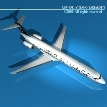 md82 spanair 3d model 3ds dxf c4d obj 90389