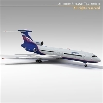 tu 154 aeroflot 3d model 3ds