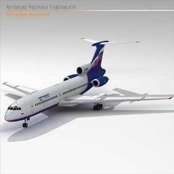 tu 154 aeroflot 3d model 3ds dxf c4d obj 105479