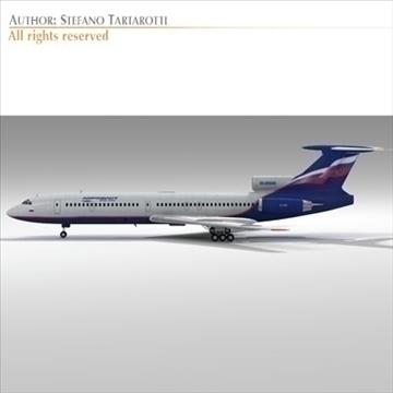 tu 154 aeroflot 3d model 3ds dxf c4d obj 105480