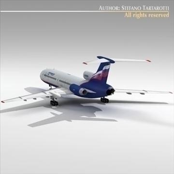 tu 154 aeroflot 3d model 3ds dxf c4d obj 105481