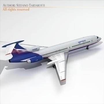 tu 154 aeroflot 3d model 3ds dxf c4d obj 105482