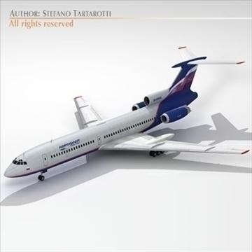 tu 154 aeroflot 3d model 3ds dxf c4d obj 105483