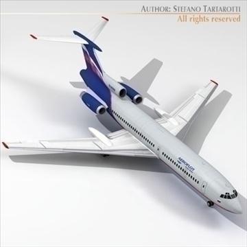 tu 154 aeroflot 3d model 3ds dxf c4d obj 105484
