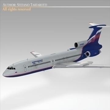 tu 154 aeroflot 3d model 3ds dxf c4d obj 105485