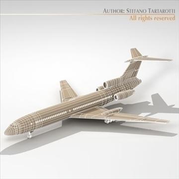 tu 154 aeroflot 3d model 3ds dxf c4d obj 105486