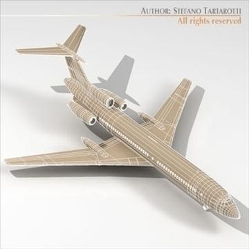 tu 154 aeroflot 3d model 3ds dxf c4d obj 105487