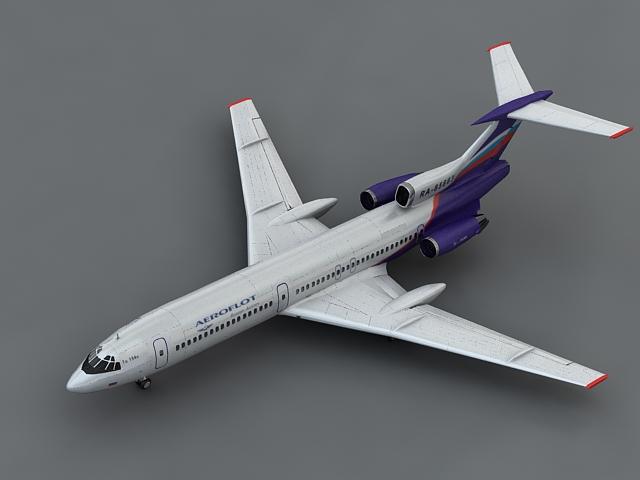 tu 154m 3d model max 106109