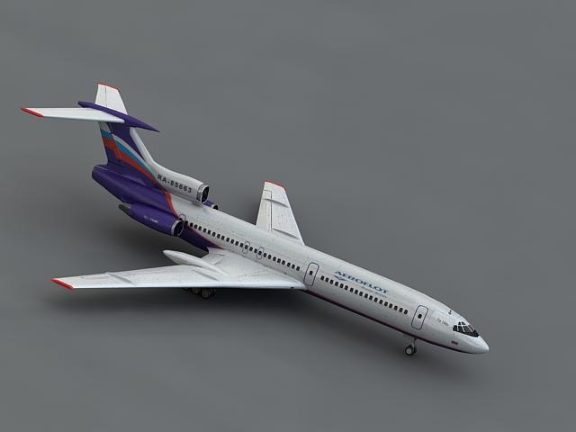 tu 154m 3d model max 106110