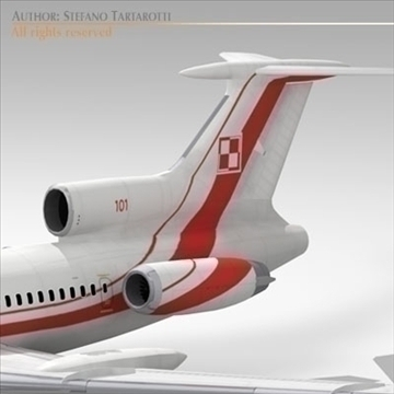 tu 154m polish air force 3d model 3ds dxf c4d obj 105469