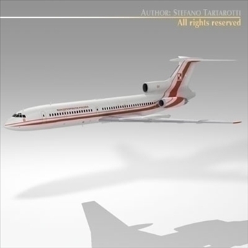 tu 154m polish air force 3d model 3ds dxf c4d obj 105473