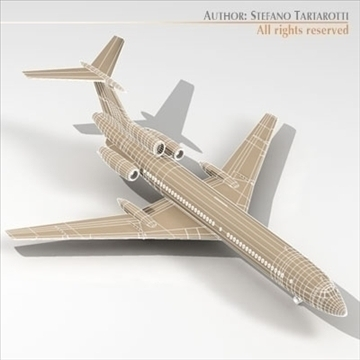 tu 154m polish air force 3d model 3ds dxf c4d obj 105477